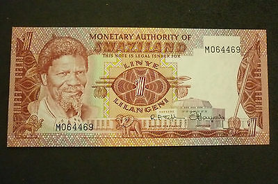 Swaziland One Lilangeni  Banknote -  1974 -  Crisp Uncirculated