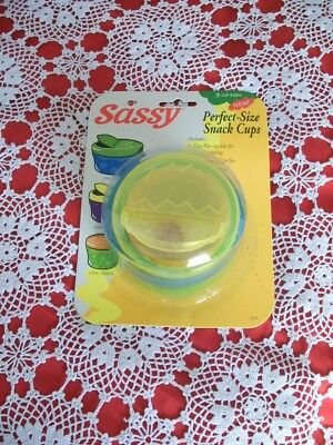 Sassy Baby Perfect Size Snack Cups  ( Free Cd )