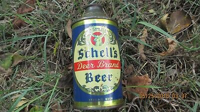 RARE 1934 -35  Schells Cone Top Beer Can brewery New Ulm  Minn Mn  strong beer