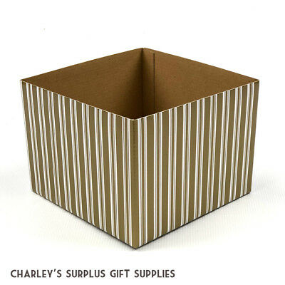 150 x Large Square Cardboard Posy Floral Storage Gift Display Box