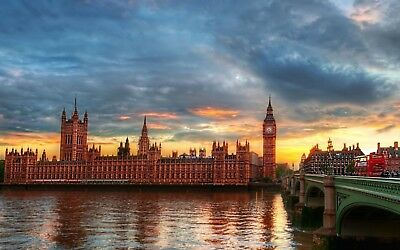 1p Auction Sunset Thames River Wallpaper Image Penny Collection Free No Reserve
