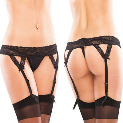 Hot Sale Sexy Womens Sheer Lace Top Thigh Highs Stockings Garter Belt Suspender