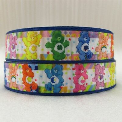 Grosgrain Ribbon Care Bears 25mm (1m, 2m or 5m)