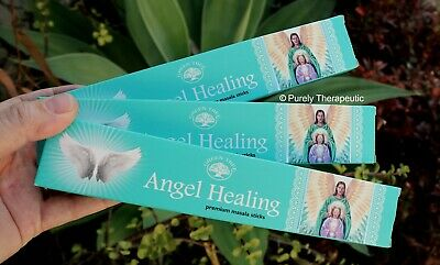ANGEL HEALING MASALA INCENSE STICKS~Green Tree 15gms x 3 Wicca Smudge Spiritual