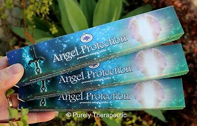 ANGEL PROTECTION MASALA INCENSE STICKS~Green Tree 15gms x 3 Wicca Smudge Spirit