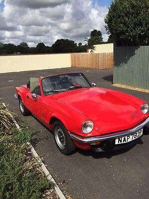 Triumph Spitfire 1500 1976 Signal Red - Very good Condition