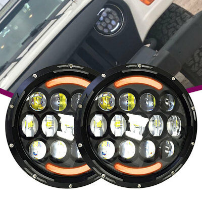 For Ford Bronco 1969-1978 LED sealed daymaker two Headlight Freightliner Century