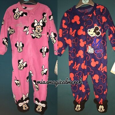 6fa60a9dd1dc BRAND NEW PRIMARK Disney Baby Mickey Minnie Fleece Baby Grow 2 To ...