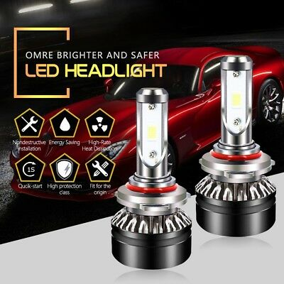 HB3 9005 LED Headlight Bulbs Cool White High Beam 6000LM 6500K SEOUL Chips