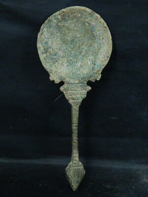 Ancient Large Size Bronze Spoon Islamic 1200 AD NO RESERVE #BR6492
