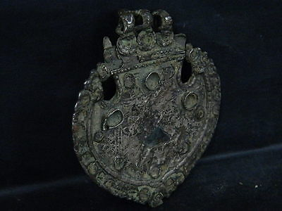 Ancient Large Size Bronze Pendant Islamic 1400 AD NO RESERVE #SG6076