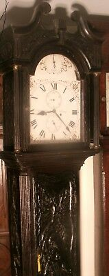 "Antique Superb Carved Oak  8 Day  "" Jersey ""  Longcase / Grandfather  Clock"