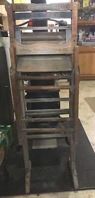Antique Early American Wringer Washer Anchor Brand Folding Bench Lovell Manufac