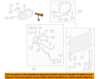 Genuine GM OEM A//C AC Condenser//Compressor//Line-Mount Bracket Bolt 11588757