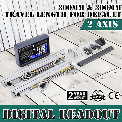 2 Axis Digital Readout DRO 300*300mm Linear Scale Milling Display Drilling