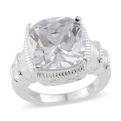 Sterling Silver Cubic Zirconia CZ Cocktail Anniversary Ring for Girls & Women