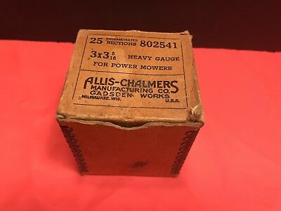 Vintage Allis Chalmers Parts Box About 3x3x3 BOX ONLY