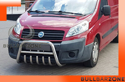 Fiat Scudo 2006-2016 Tubo Protezione Medium Bull Bar Inox Stainless Steel!