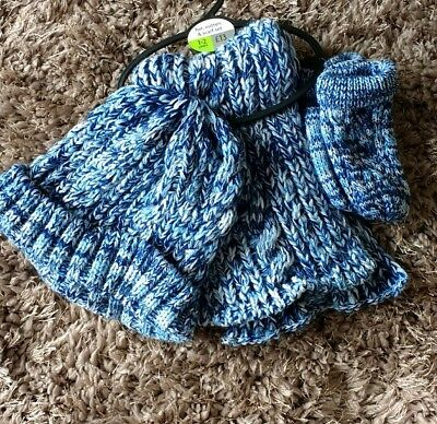 Next Boys Hat Scarf And Gloves Set BNWT Age 1-2 Years