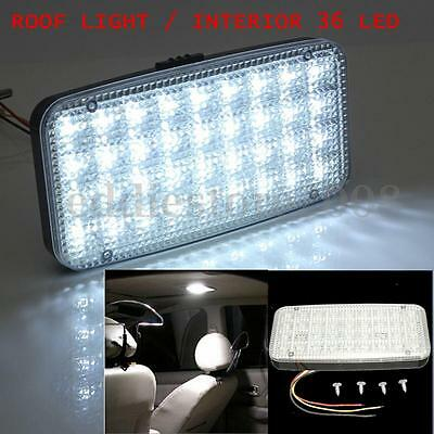 Car Vehicle Ceiling Dome Roof Interior Light White 12V 36 LED Reading Cabin Lamp