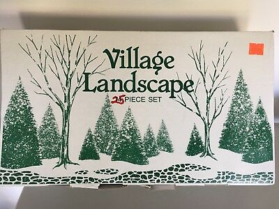 Dept 56 Christmas In The City Village Tree Set (25 pieces) EXCELLENT CONDITION