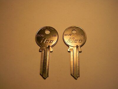 Lot of 2 ILCO Key Blank Uncut 1054F IN1 - Made in USA