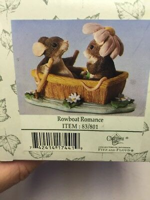 Charming Tails By Dean Griff Row Boat Romance 83/801 Rare New Factory Fresh