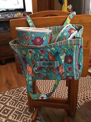 LONGABERGER 2011 SUMMER LOVIN SISTER TOTE SET-NEW IN PACKAGE w/storage bowls New