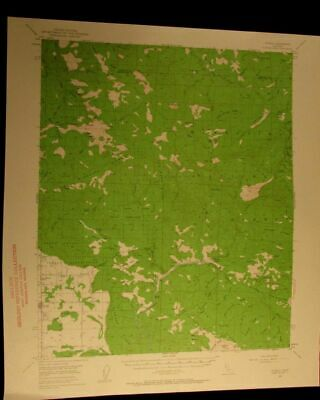 Covelo California 1960 vintage USGS Topographical chart map