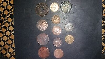 Old copper coins