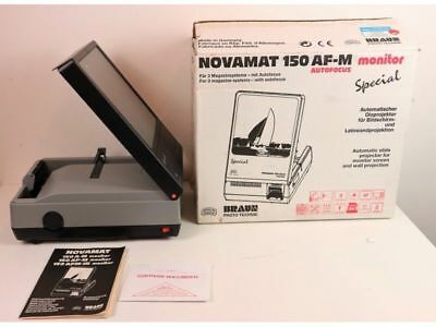 Proiettore Diapositive Braun Novamat 150 Af-M  - Monitor Special - Nuovo-Vintage