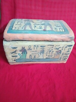 Ancient Egyptian rare Coffin for Mummy( 1972-78 BCE)