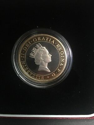 1997 UK 2£ Silve Proofr Coin