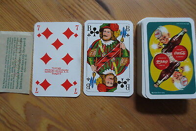 Altes Kartenspiel Coca Cola Playing cards 1954 Spielkarten Speelkaart Skatspiel