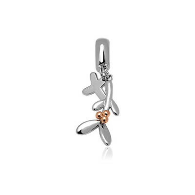 NEW Welsh Clogau Silver & Rose Gold Christmas Mistletoe Milestone Charm £20 off!