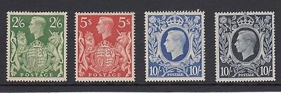 George VI 1939 Arms High Values Lightly Mounted Mint
