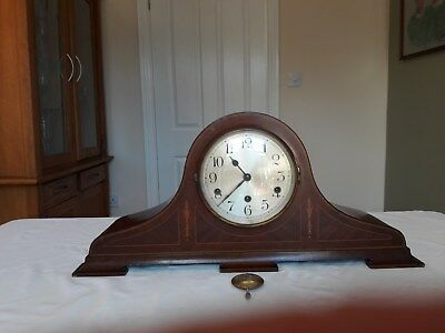 Vintage German  Mantel Clock with Westminster Chimes circa 1930's good condition