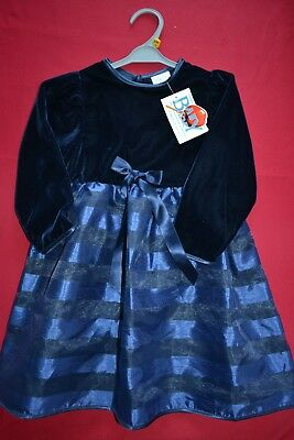 Robe petite fille, marque baby love, taille 36 mois, couleur bleu nuit f85a99952027