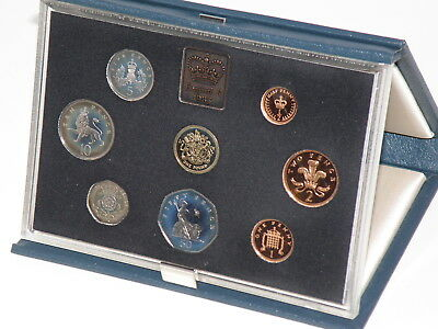 1983 Royal Mint U.K. PROOF COIN SET - 8 Coins POUND to HALFPENNY + R.M. Booklet