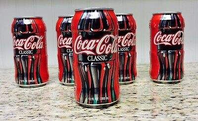 Discontinued 1997 COCA-COLA Bottle-Textured Aluminum Can's