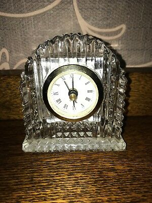 Glass Quartz Mantle Clock