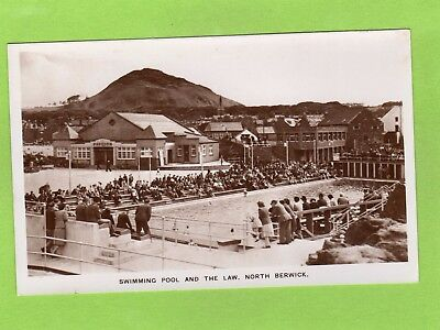 Swimming Pool & the Law Pavilion North Berwick RP pc unused M & L Ref E151