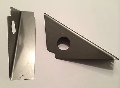 MG ZR Rally Race Top Front Chassis Leg Plates - S1600 Rover 25