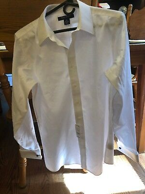 Brooks Brothers White 100% Cotton No-Iron Shirt, Boys Size 20, New With Tags