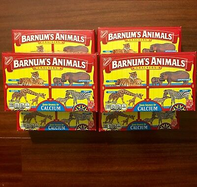 Barnum's Animal Crackers (6) New Boxes Discontinued Cage Design