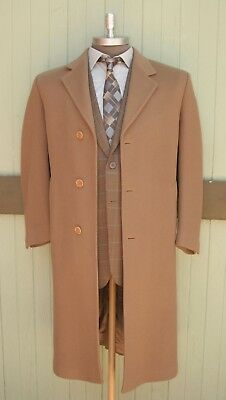 Brooks Brothers Italy Wool Cashmere Full Winter Trench Over Coat Three Button 40