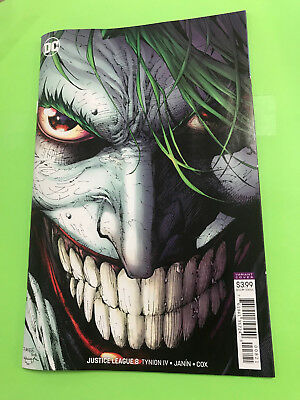 JUSTICE LEAGUE 8B JIM LEE JOKER VARIANT COVER NM+ 2018 SOLD OUT ships in box