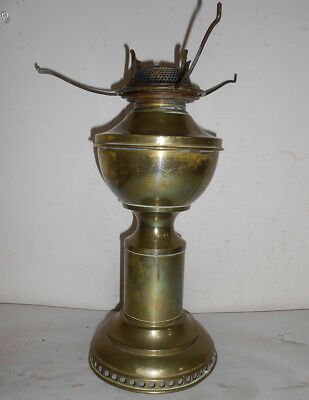 RARE Hitchcock Brass Table Lamp with Wind Up Base