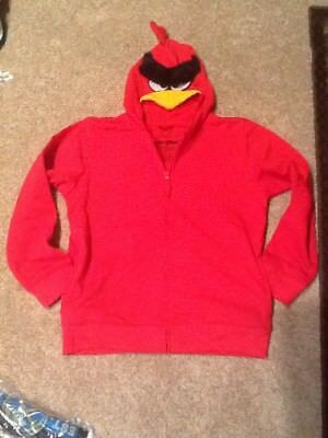 Angry Birds Big Boys Hoodie, Red, Large/14/16