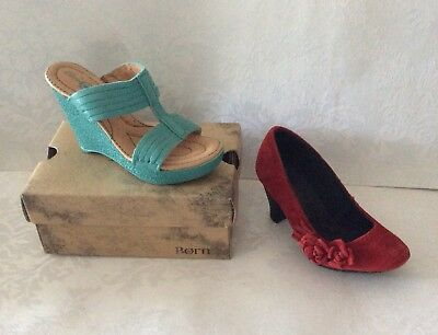 BORN Miniature SALESMAN Sample Shoes w/ Boxes- Ladies Sandal and Heals Mint!